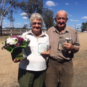 Greta & Clive Richardson. 2014 Zone 5 Volunteer of the Year Award winners.