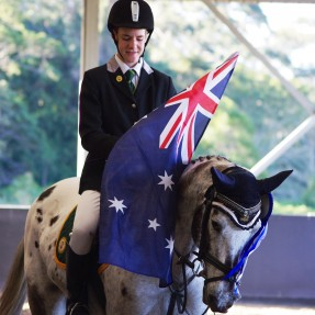 Rider with flag
