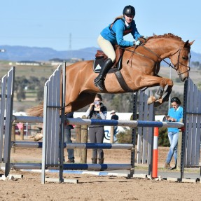 Dannica Whitty competing at the State Showjumping Championships in July this year. Photo: Julie Wilson