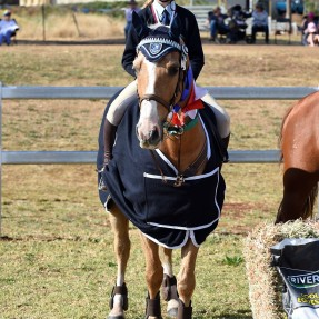 Winner of the Sub Junior Showjumping Championships Molly Smith from North Star Pony Club. Photo: OzShotz