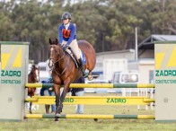 Zone 26 competitor Tahlia Coleiro was one of 170 riders that took part in the Pony Club NSW State Showjumping Championships at Morisset. Photo: GeoSnapShot