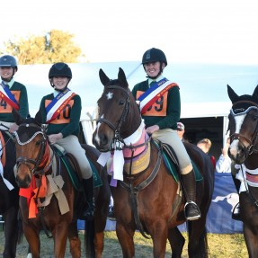Riders from Zone 9 claimed the Champion Zone Award for the Showjumping Championships. Photo: Julie Wilson