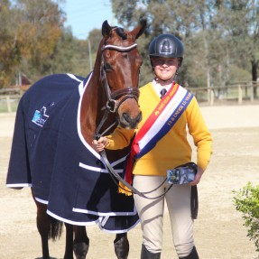 Lucy Bramley from Zone 21 claimed the 13 & Under 15 years Novice Champion. Photo: Zam Photography
