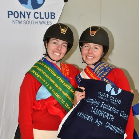 L-R: Victoria & Rachael Temm had a successful week of competition, as well as being presented with their Pony Club A Certificates. Photo: Julie Wilson